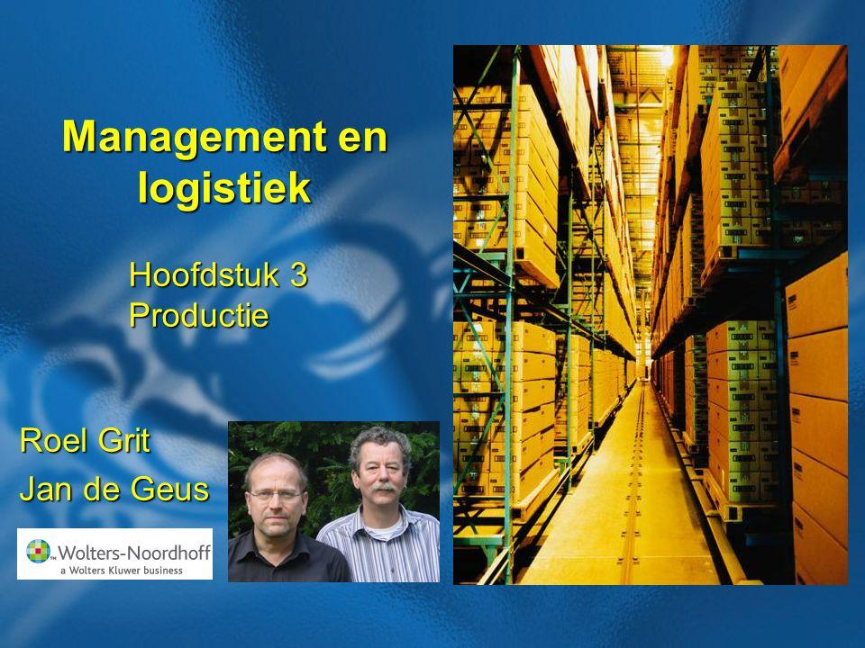 2 Boek: Management en logistiek Auteurs: Roel Grit en Jan de Geus Hoofdstuk Productie