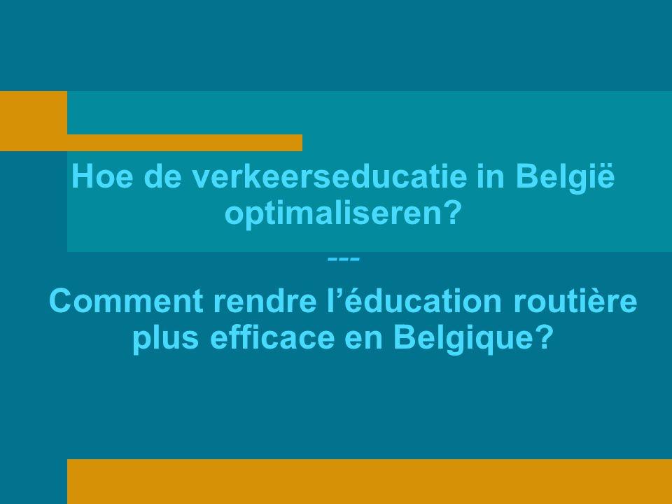 Hoe de verkeerseducatie in België optimaliseren.