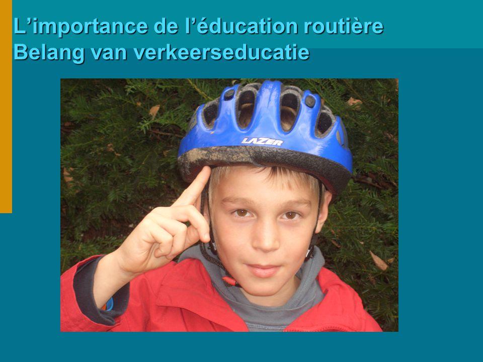 L'importance de l'éducation routière Belang van verkeerseducatie