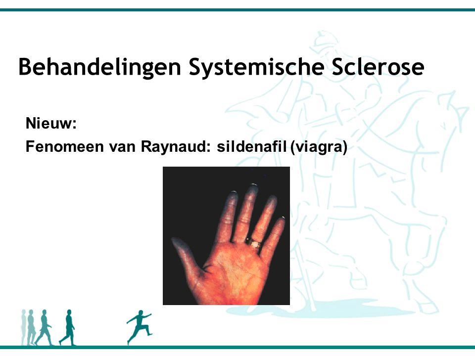 Behandelingen Systemische Sclerose Nieuw: Fenomeen van Raynaud: sildenafil (viagra)