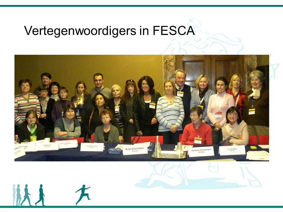 Vertegenwoordigers in FESCA