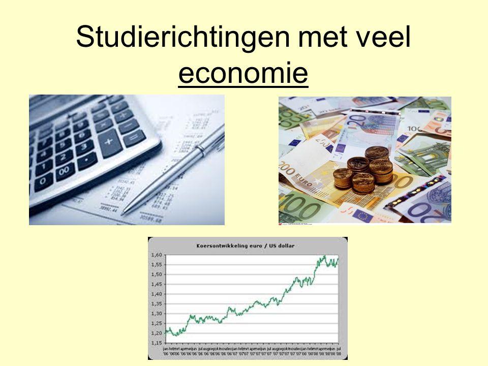 Studierichtingen met veel economie