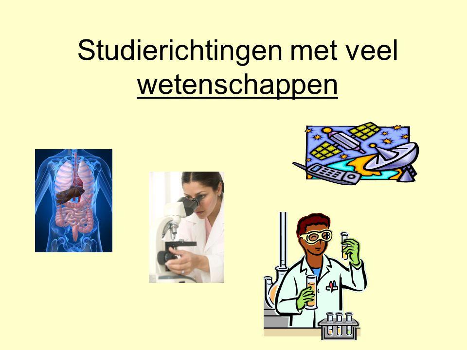 Studierichtingen met veel wetenschappen
