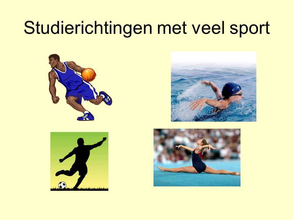 Studierichtingen met veel sport