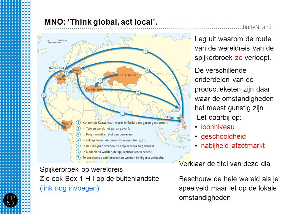 MNO: 'Think global, act local'.