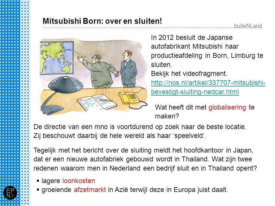 Mitsubishi Born: over en sluiten! In 2012 besluit de Japanse autofabrikant Mitsubishi haar productieafdeling in Born, Limburg te sluiten. Bekijk het v