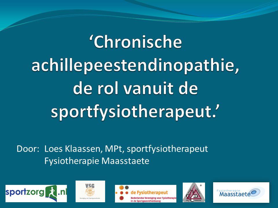Door:Loes Klaassen, MPt, sportfysiotherapeut Fysiotherapie Maasstaete