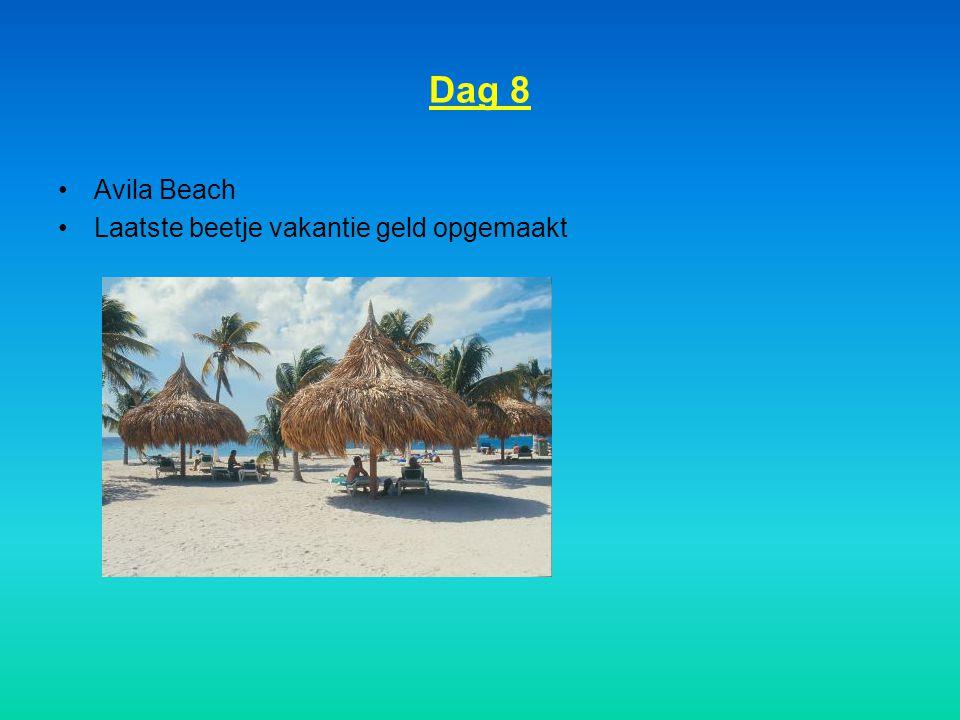Dag 8 Avila Beach Laatste beetje vakantie geld opgemaakt