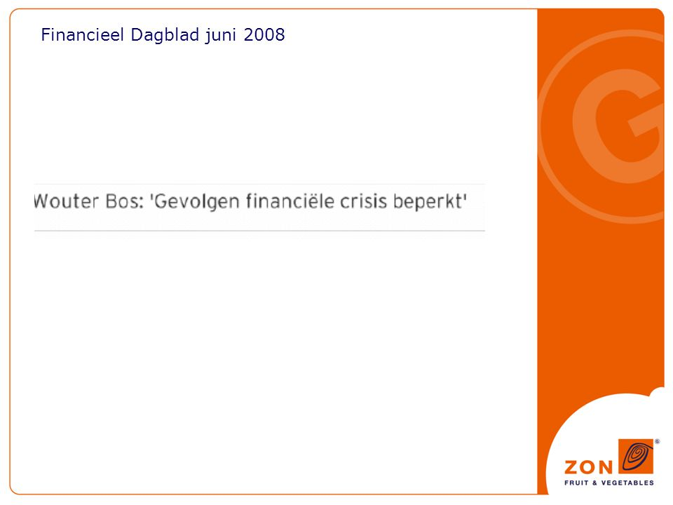 Financieel Dagblad juni 2008