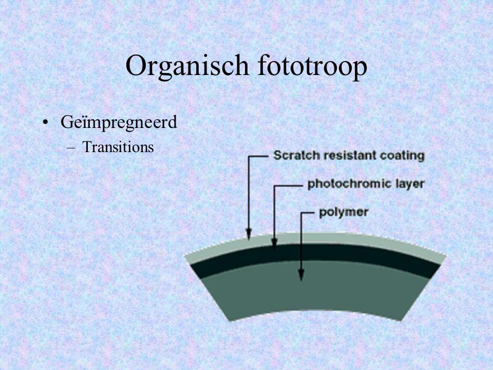 Organisch fototroop Geïmpregneerd –Transitions