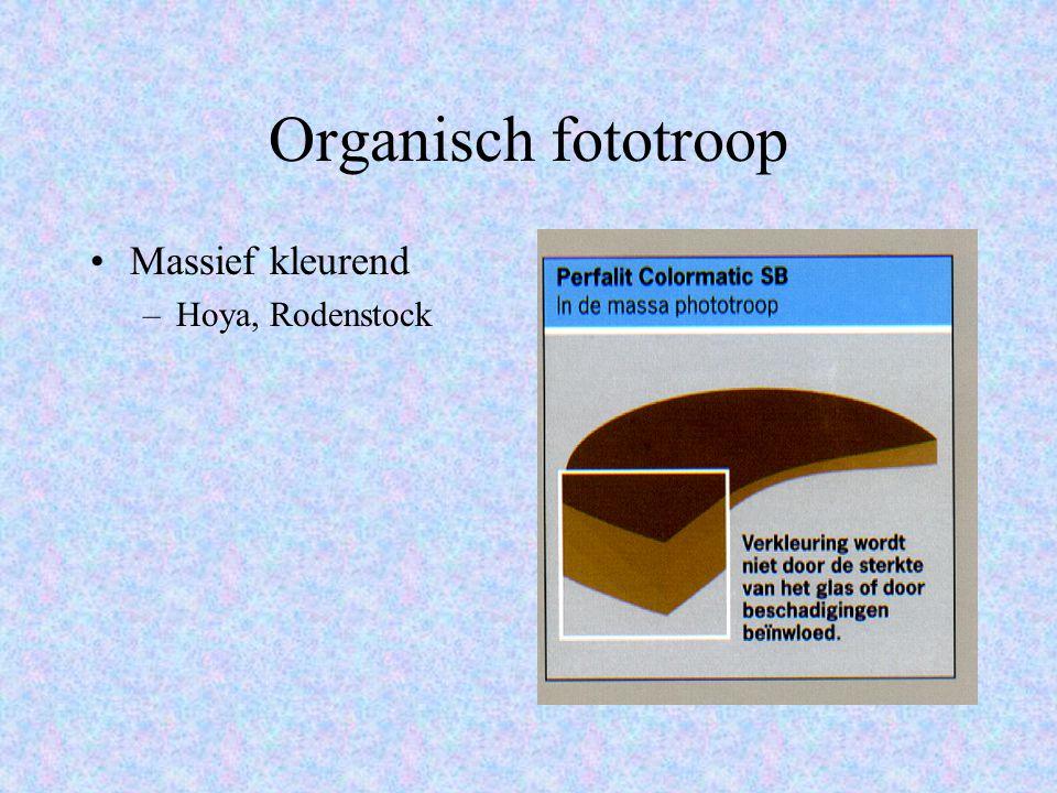 Organisch fototroop Massief kleurend –Hoya, Rodenstock