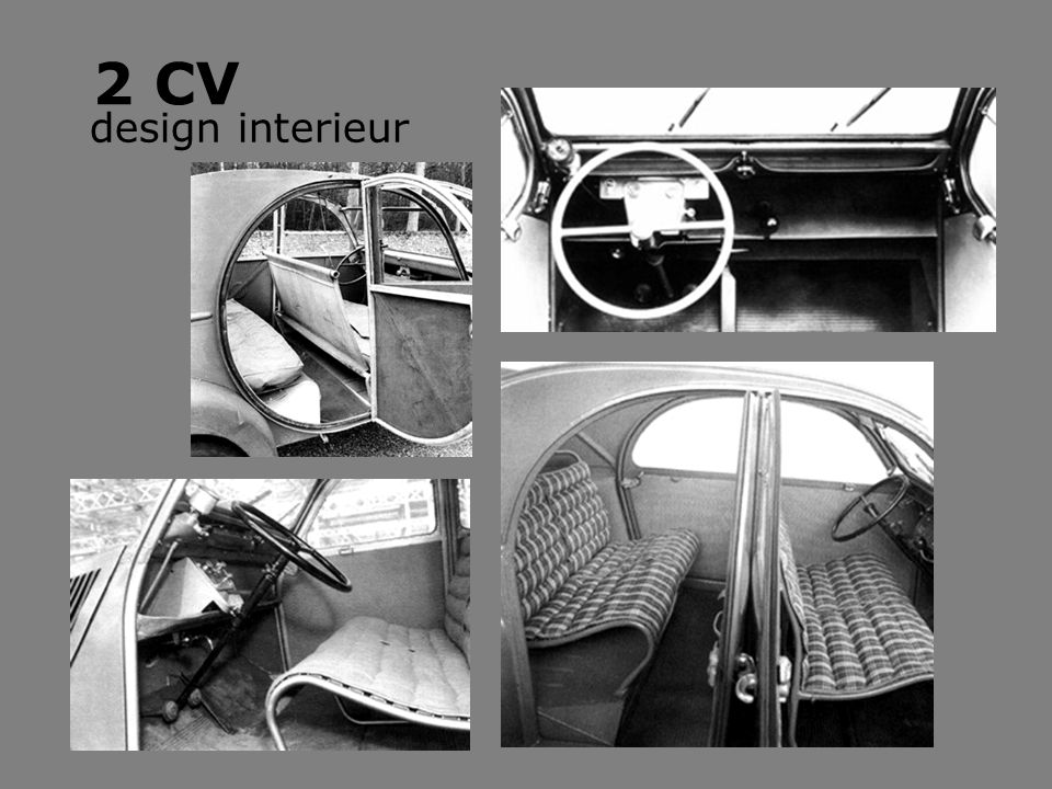 2 CV design interieur
