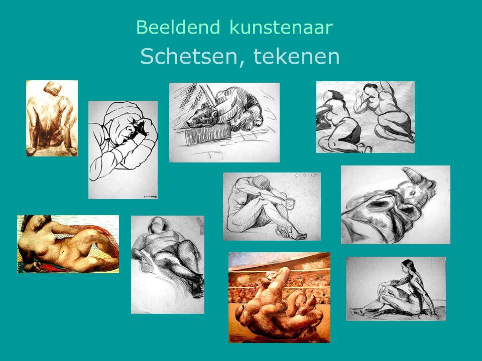Schetsen, tekenen Beeldend kunstenaar