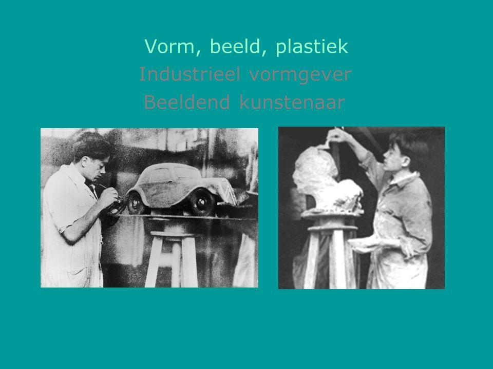 Vorm, beeld, plastiek Beeldend kunstenaar Industrieel vormgever
