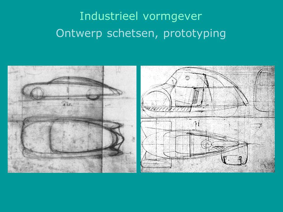 Ontwerp schetsen, prototyping Industrieel vormgever