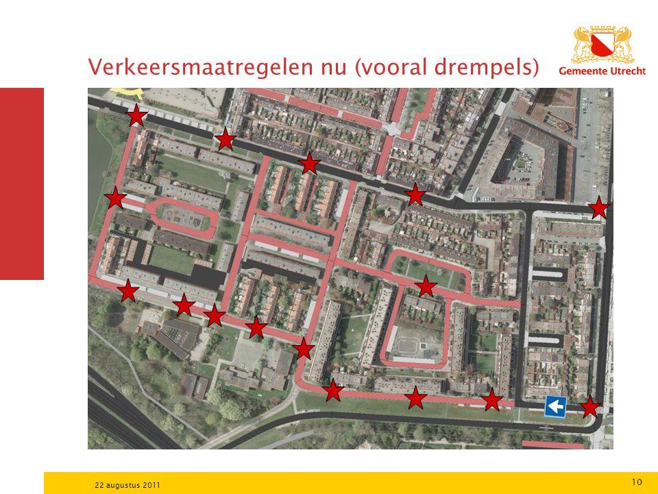 10 22 augustus 2011 Verkeersmaatregelen nu (vooral drempels)