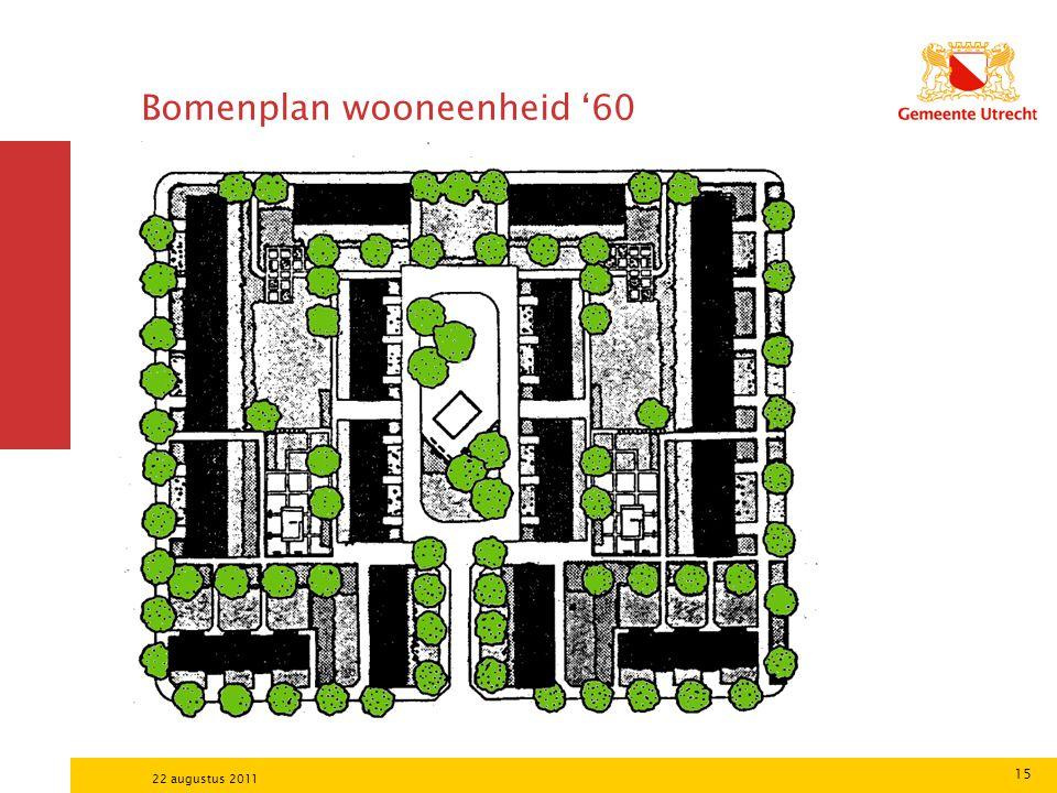 15 22 augustus 2011 Bomenplan wooneenheid '60