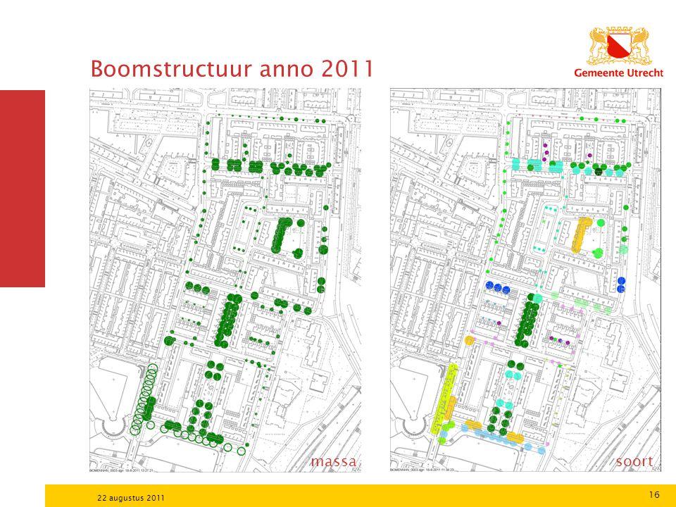16 22 augustus 2011 Boomstructuur anno 2011 massa soort