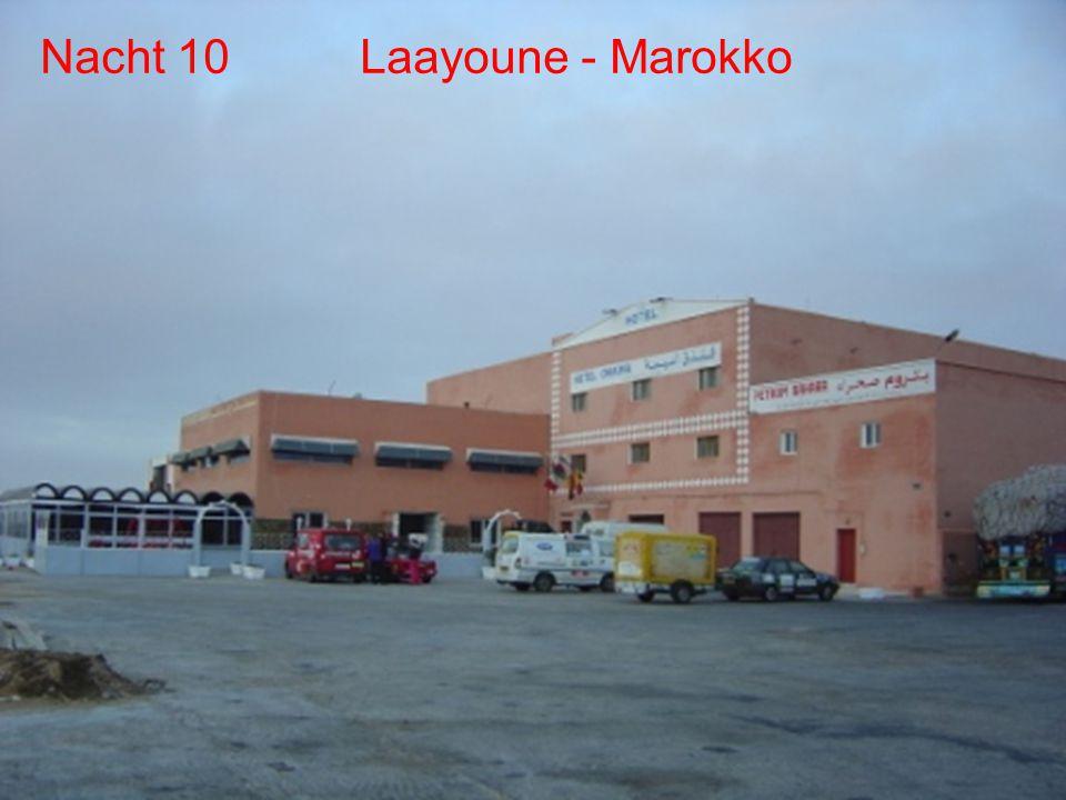 Dag 7/8/9 Agadir (rustdag) Dag 10 Laayoune De route Dag 10 - Laayoune