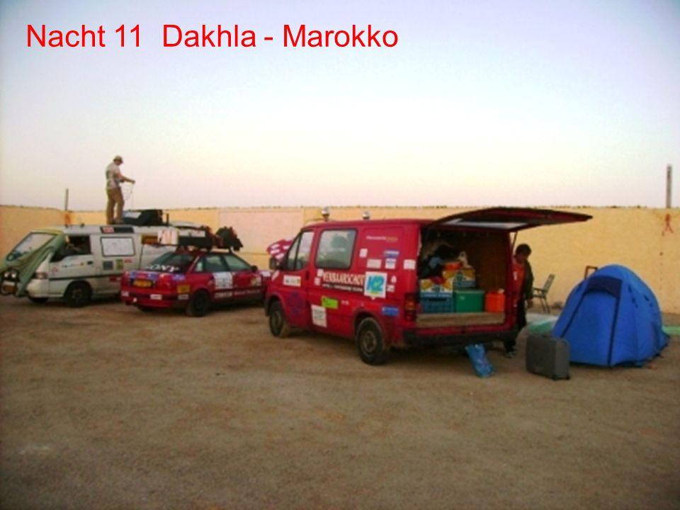 De route Dag 11 - Dakhla Dag 10 Laayoune Dag 11 Dakhla