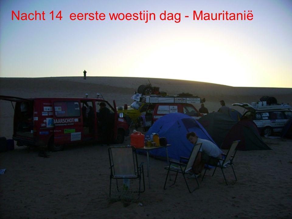 Dag 13 Noadibou Dag 14 Woestijn De route Dag 14- Woestijn Sahara