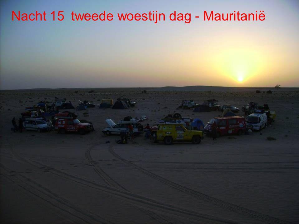 De route Dag 15 Woestijn Sahara Dag 15 Woestijn
