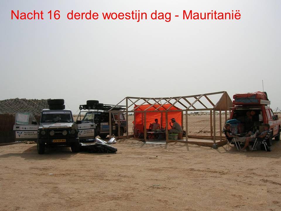 De route Dag 16 Woestijn Shara Dag 15 Woestijn Dag 16 Woestijn