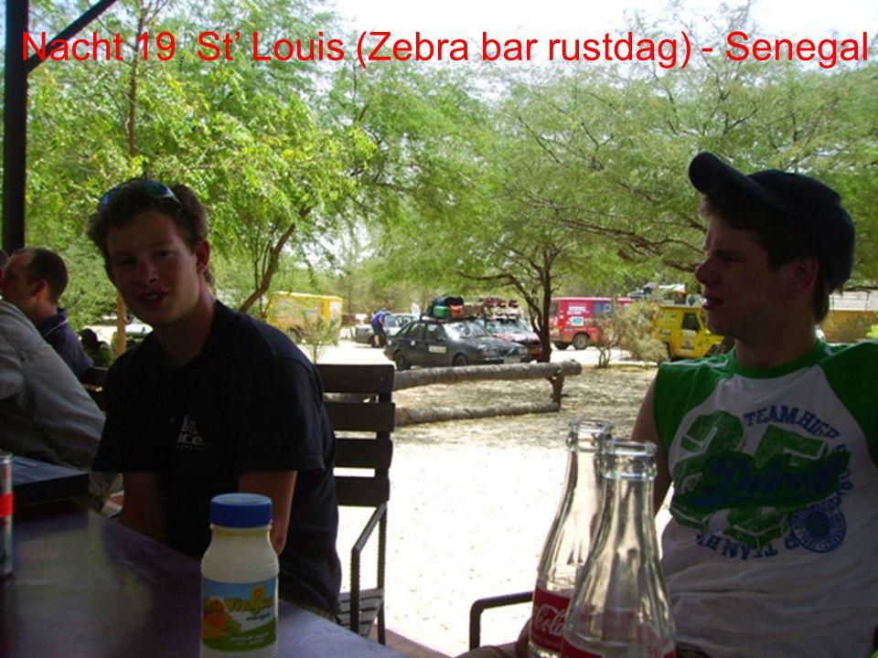 "Dag 16 Sint louis Dag 17 rustdag (""Zeebabar"" natuurpark) Dag 19 – St' Louis (rustdag)"