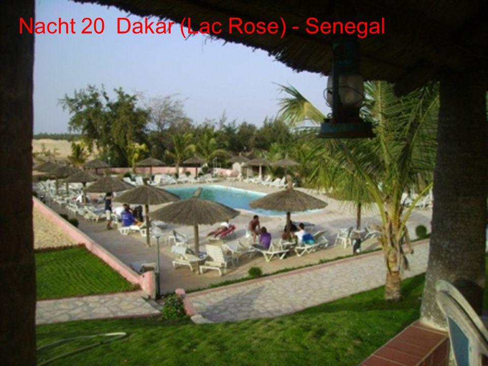 Dag 19 Sint louis Dag 20 Lac Rose De route Dag 20 - Dakar