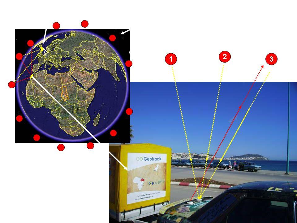 De gereden route is mbv een Geotrack navigatiesysteem vastgelegd, zodat thuis via internet onze positie op de aardbol gevolgd kon worden. Hoe werkt ee