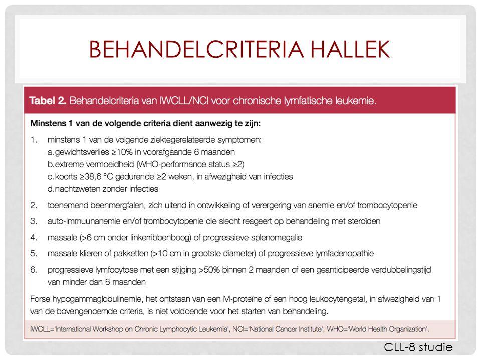 BEHANDELCRITERIA HALLEK CLL-8 studie