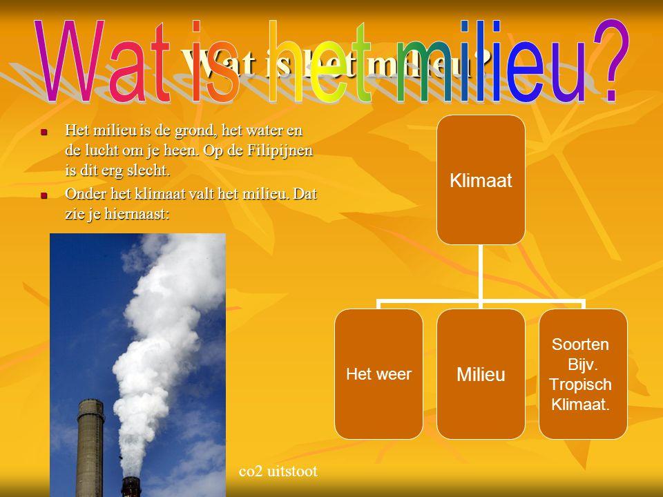 Wat is het milieu.Wat is het milieu. Het milieu is de grond, het water en de lucht om je heen.