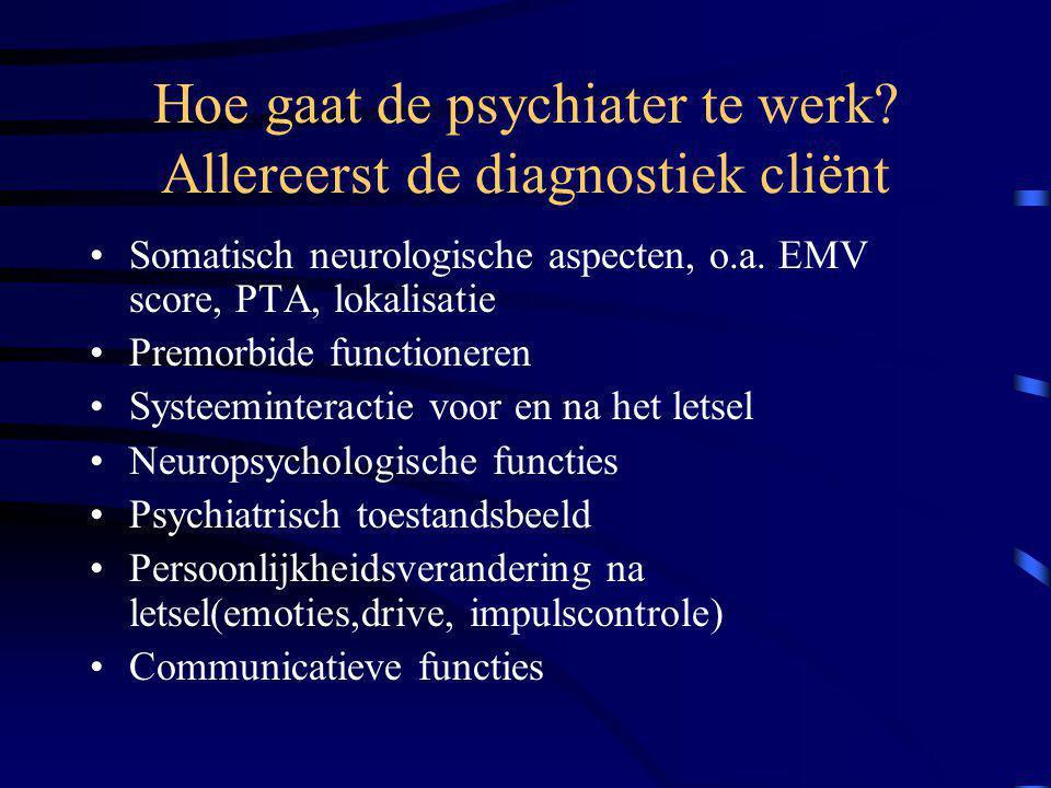 Hoe gaat de psychiater te werk.