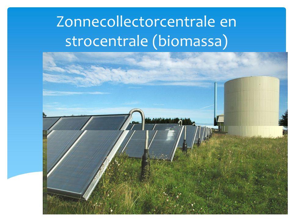 Zonnecollectorcentrale en strocentrale (biomassa)