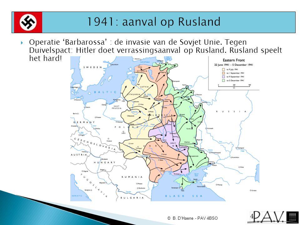  Operatie 'Barbarossa' : de invasie van de Sovjet Unie. Tegen Duivelspact: Hitler doet verrassingsaanval op Rusland. Rusland speelt het hard! © B. D'