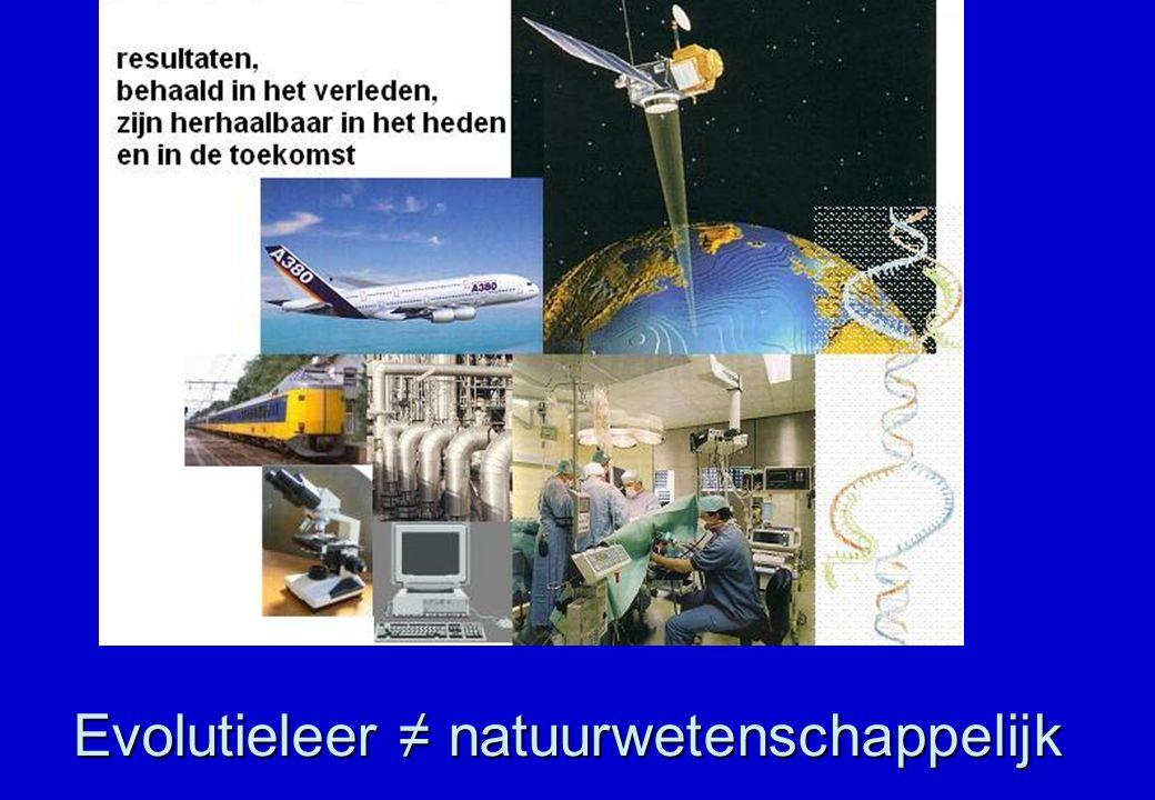 Evolutieleer ≠ natuurwetenschappelijk