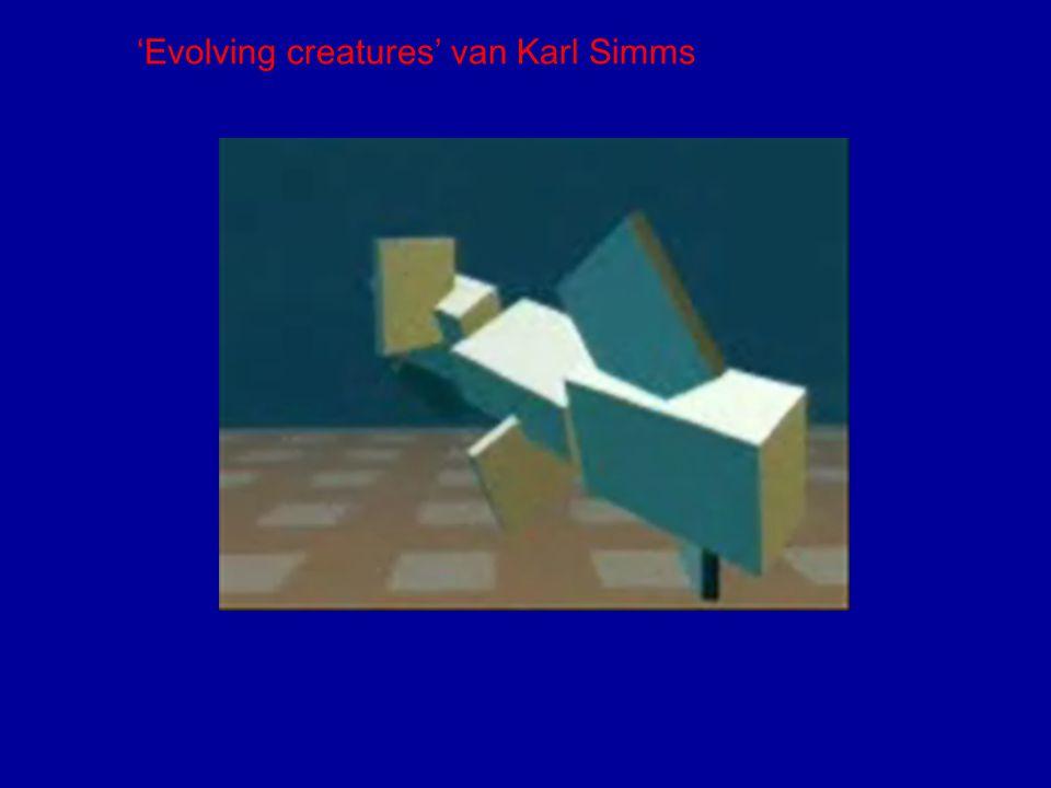 'Evolving creatures' van Karl Simms