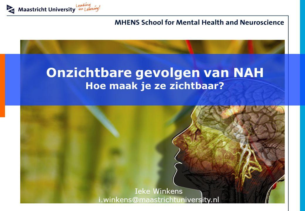 Onzichtbare gevolgen van NAH Hoe maak je ze zichtbaar? Ieke Winkens i.winkens@maastrichtuniversity.nl