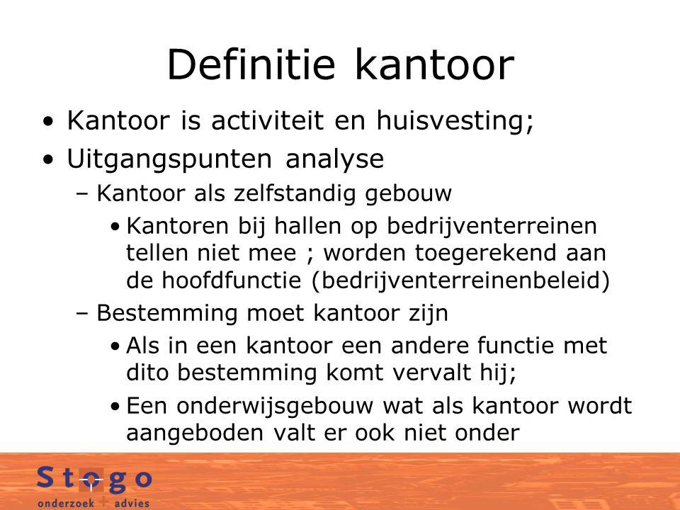 Kenmerken kantorenmarkt Kantorenmarkt is beleggingsmarkt en gebruikersmarkt Kantorenmarkt is vooral een huurdersmarkt; volatiel; contracten lopen na vijf jaar af;