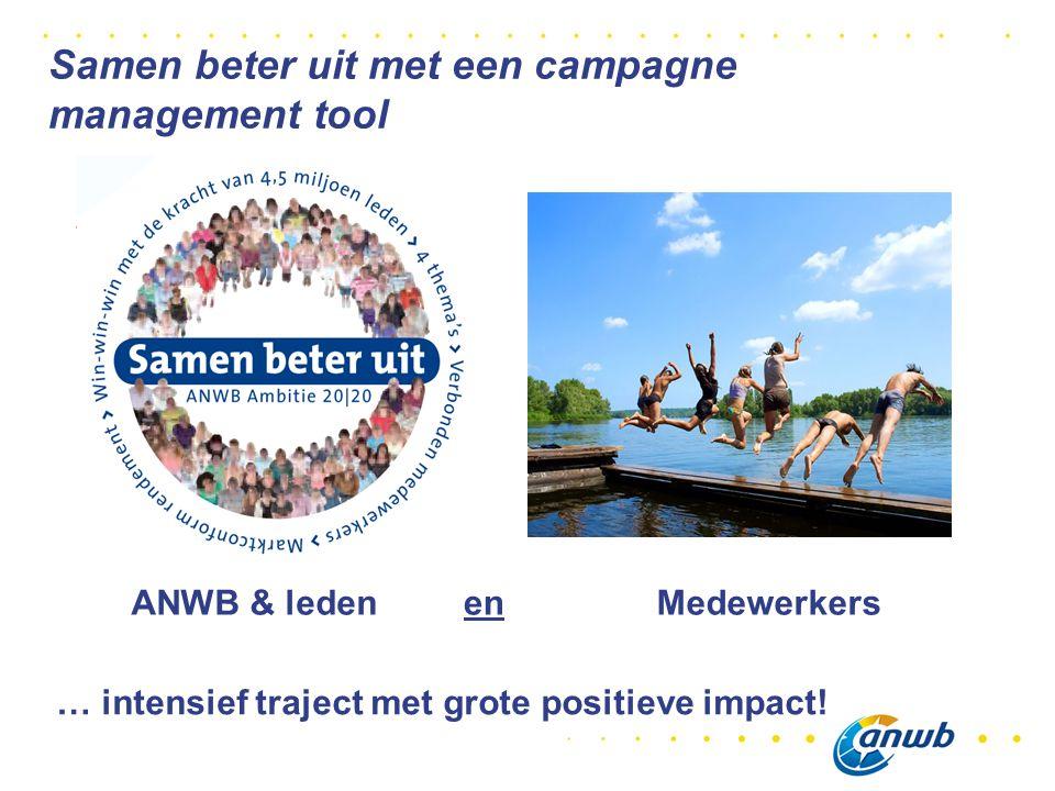 ANWB & ledenMedewerkersen … intensief traject met grote positieve impact.
