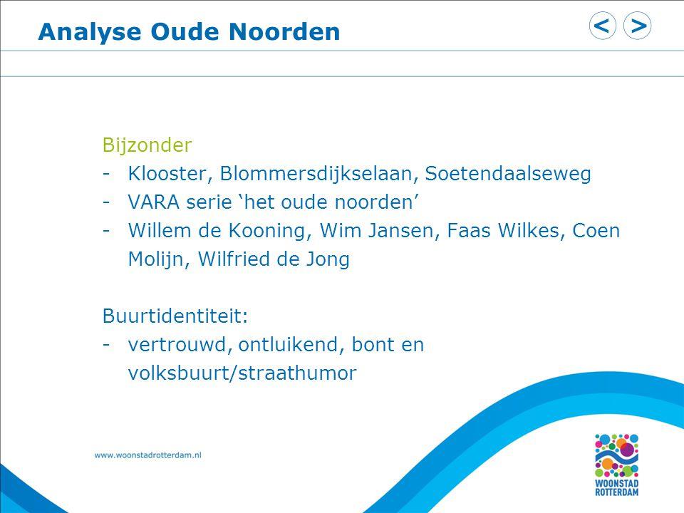 Analyse Oude Noorden Bijzonder -Klooster, Blommersdijkselaan, Soetendaalseweg -VARA serie 'het oude noorden' -Willem de Kooning, Wim Jansen, Faas Wilk