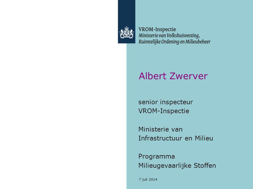 Asbestbranden Plan van Aanpak Asbestbranden Uitgave Ministerie van VROM Ministerie van Binnenlandse Zaken november 2006 7 juli 2014 12