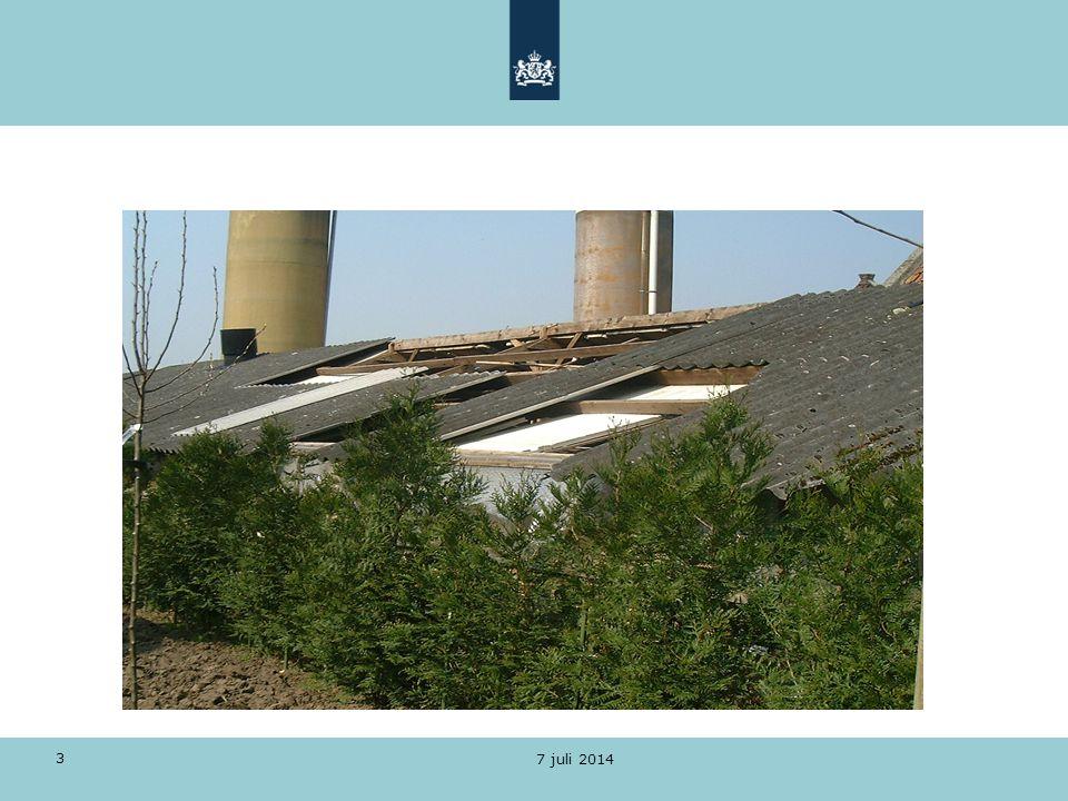 Asbestbranden Wettelijk kader Wet milieubeheer Woningwet Asbestverwijderingsbesluit 2005 Arbeidsomstandighedenbesluit 7 juli 2014 4