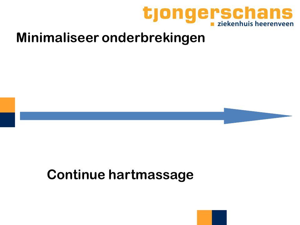 Continue hartmassage Minimaliseer onderbrekingen