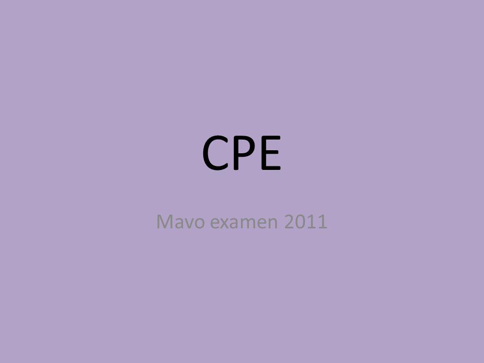 CPE Mavo examen 2011
