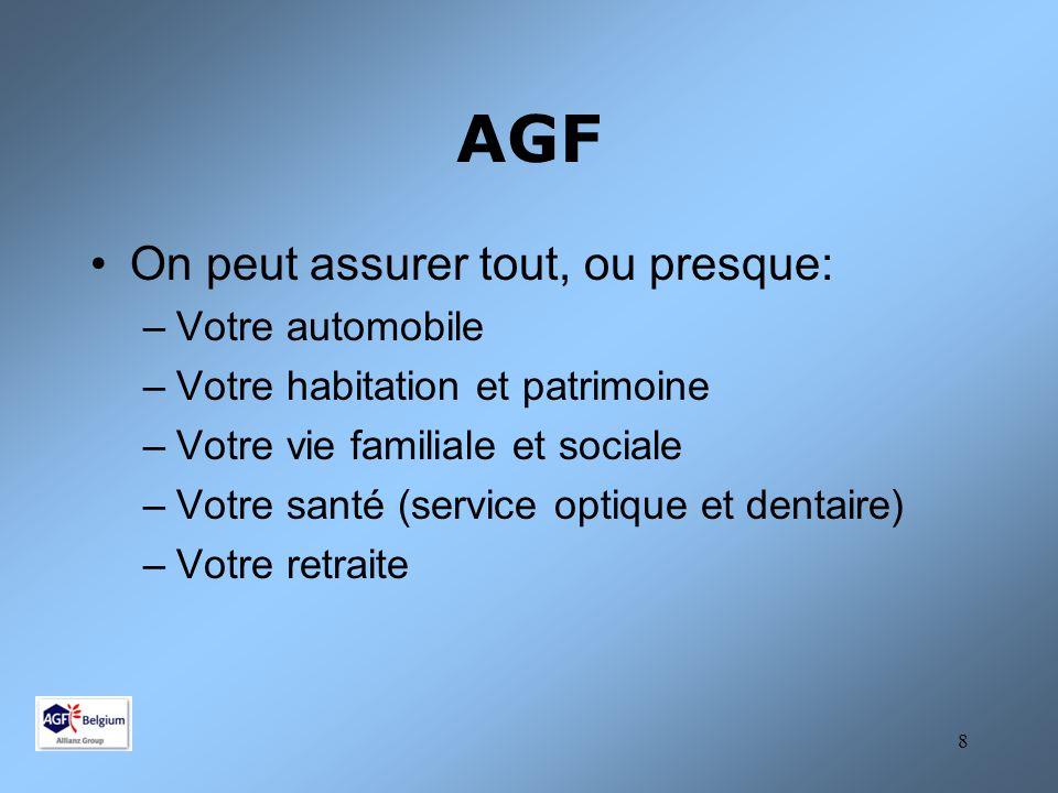 9 AGF 2 Qui peut s'assurer chez AGF.