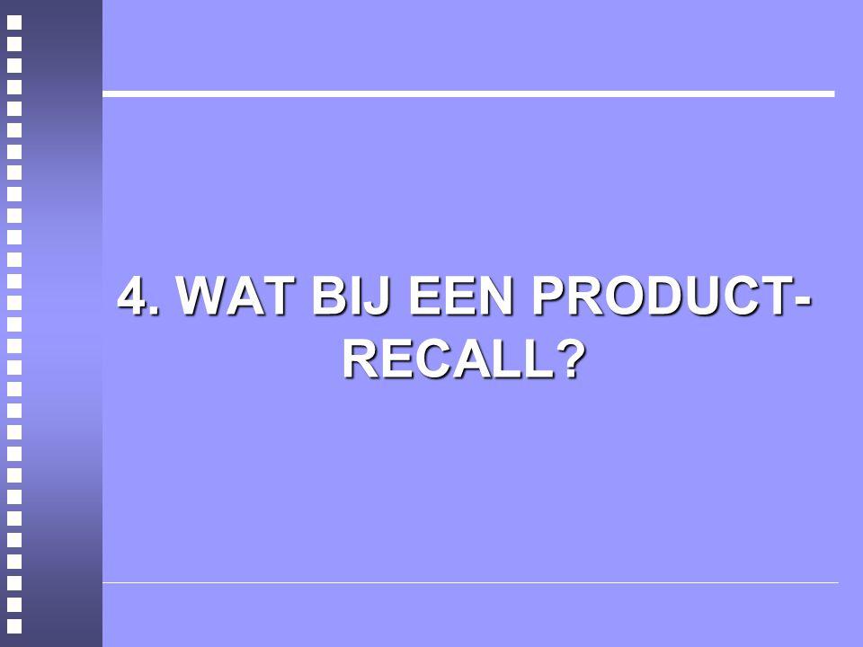 4. WAT BIJ EEN PRODUCT- RECALL?