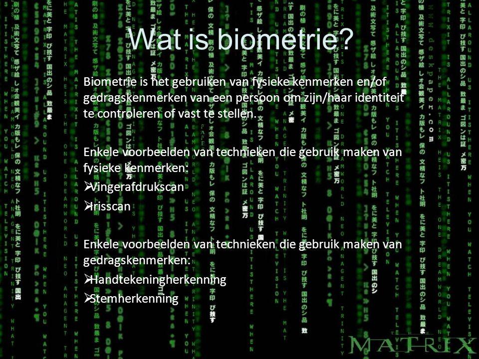 Wat is biometrie.