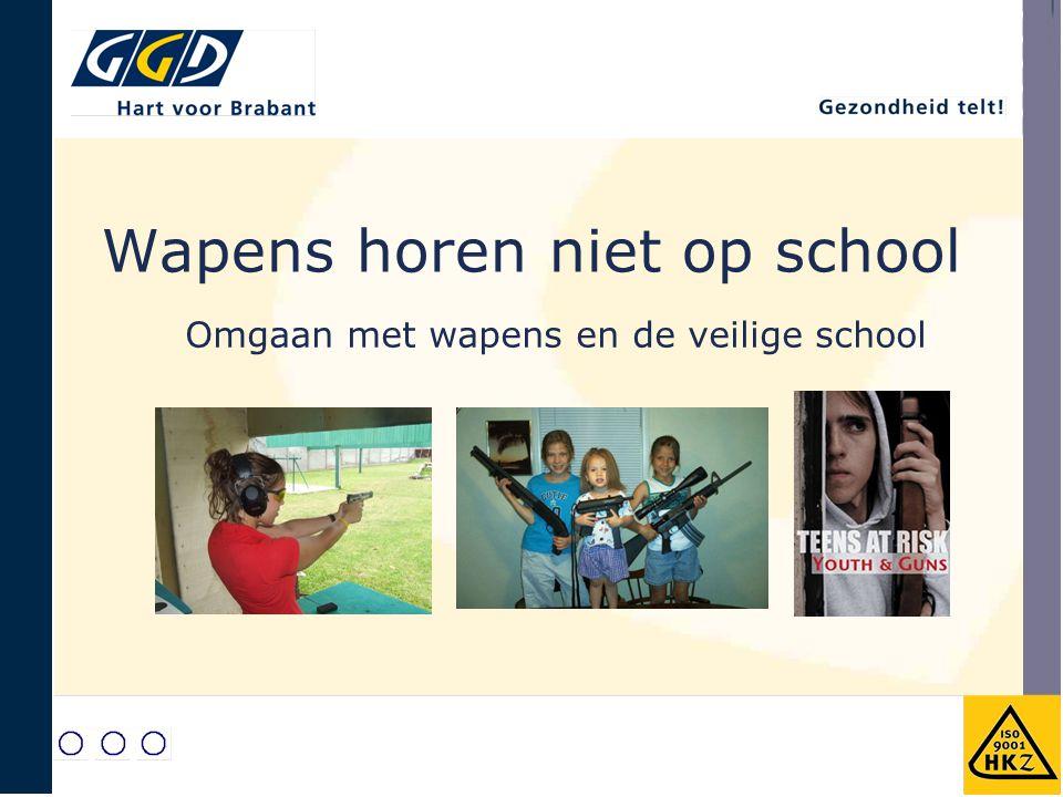 Wapens horen niet op school Omgaan met wapens en de veilige school