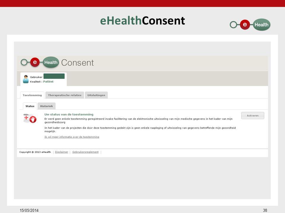 eHealthConsent 15/05/201438